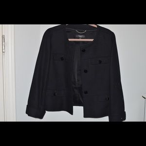 NWOT Talbots Black Pea Coat